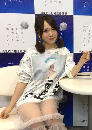 AKB48高橋朱里(20)のシースルーノーパンがマンチラ寸前でぐうシコww【エロ画像】