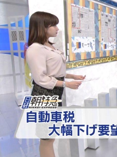 角谷暁子アナ(24)のDカップの着衣巨乳がエロいww【エロ画像】