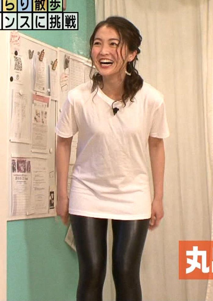 福田典子アナ(31)のピチピチスパッツ姿でのポールダンスがエロいwwww【エロ画像】