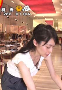 熊谷江里子(20)の貧乳おっぱいが見えた放送事故ww【エロ画像】
