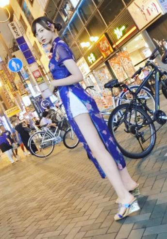 HKT48森保まどか(20)立ちんぼみたいなチャイナドレス姿の生足が抜けるww【エロ画像】