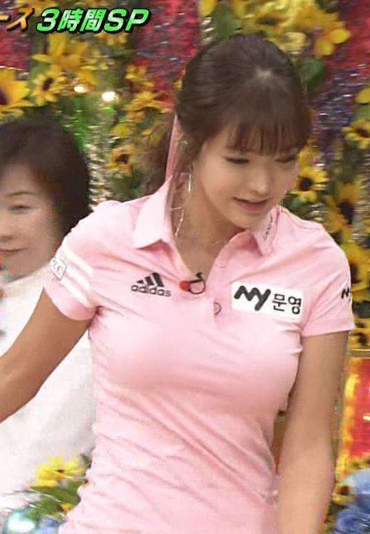 アン・シネ(26)Gカップ着衣巨乳を地上波で披露ww【エロ画像】