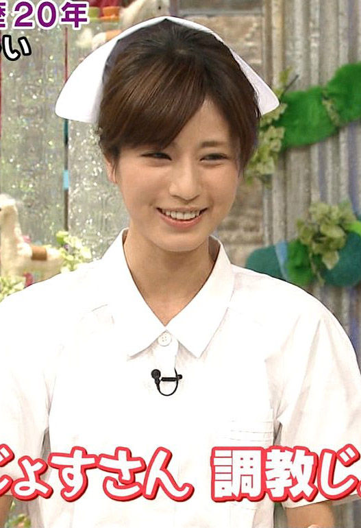 堤礼実アナ(25)のナースコスプレ姿がエロいww【エロ画像】