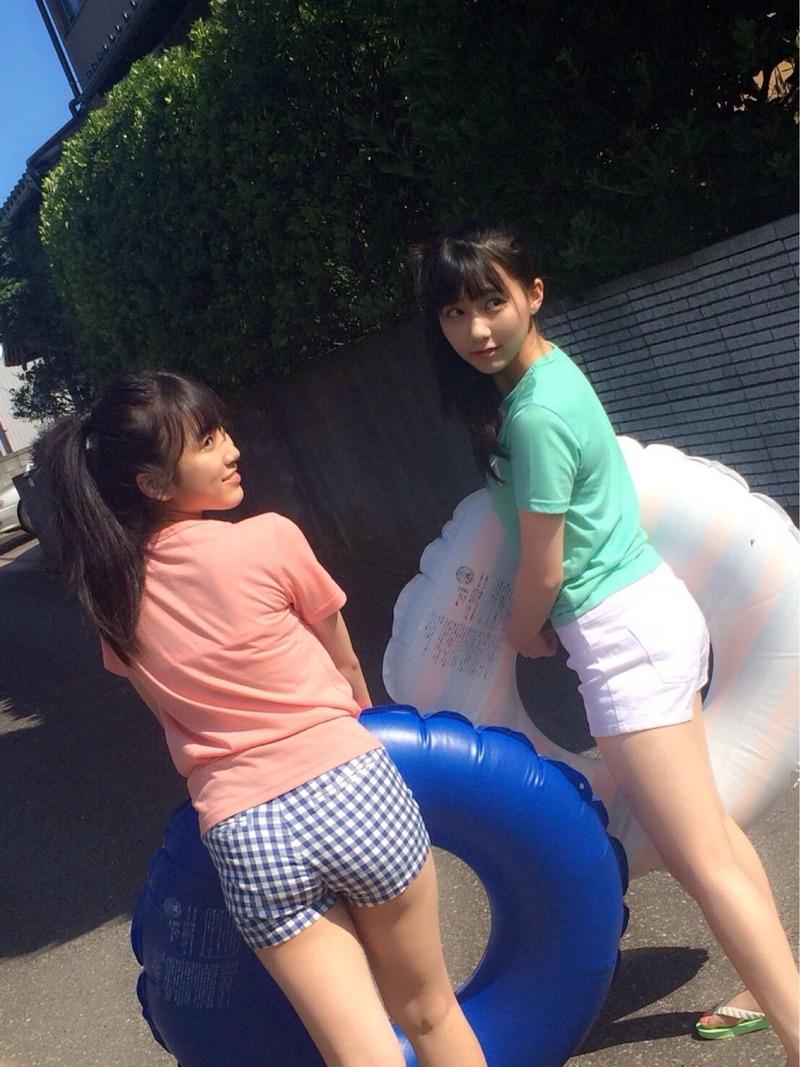 HKT矢吹奈子(15)のプリケツがエロい!田中美久のおっぱいもでかい!なこみくが育成成功と話題に