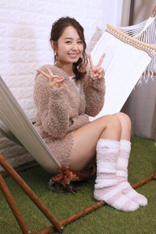 小池里奈(25)のモコモコのクマの部屋着姿がエロいww【エロ画像】