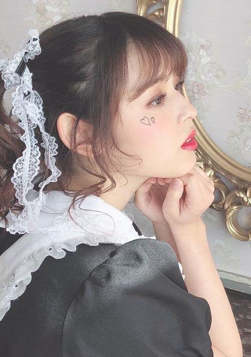 矢作穂香(21)のツインテメイド姿がエロいww【エロ画像】