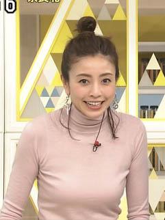 片瀬那奈(36)のシューイチでの着衣巨乳がくっそエロいww【エロ画像】