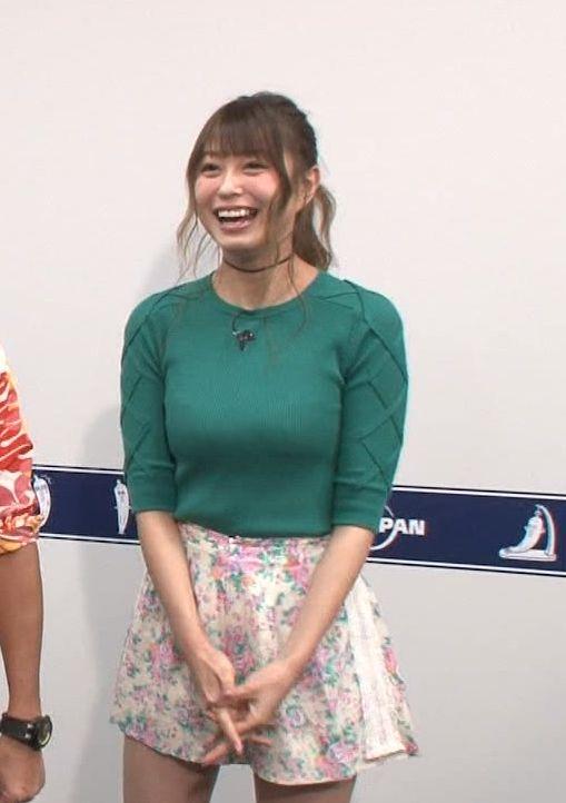 大川藍(23)着衣巨乳にムッチリ太ももがエロすぎるTVキャプww【エロ画像】