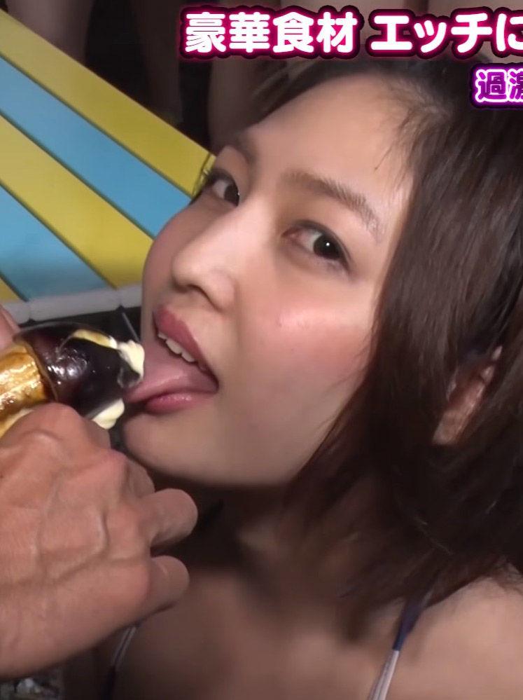 小柳歩(25)がAbemaTVで擬似フェラしててクッソエロいww【エロ画像】