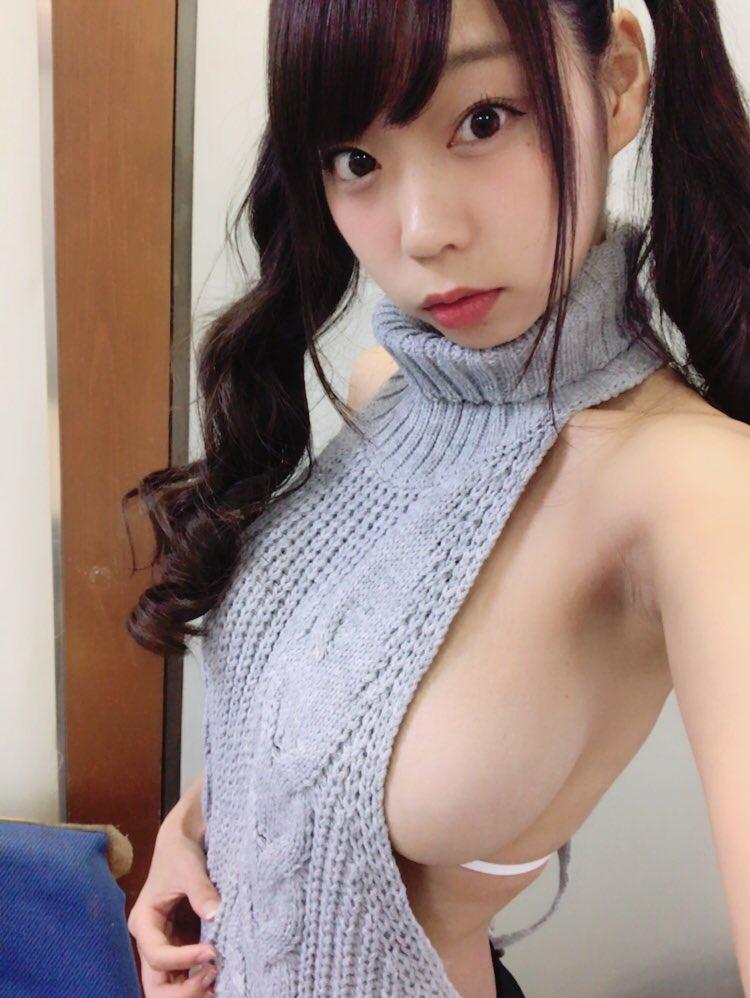 青山ひかる(24)Iカップパイスラに童貞を殺すセーターのハミ乳がぐうシコww【エロ画像】
