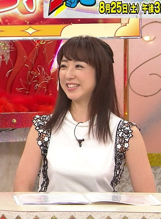 川田裕美アナ(35)のノースリーブの着衣おっぱいがエロいww【エロ画像】