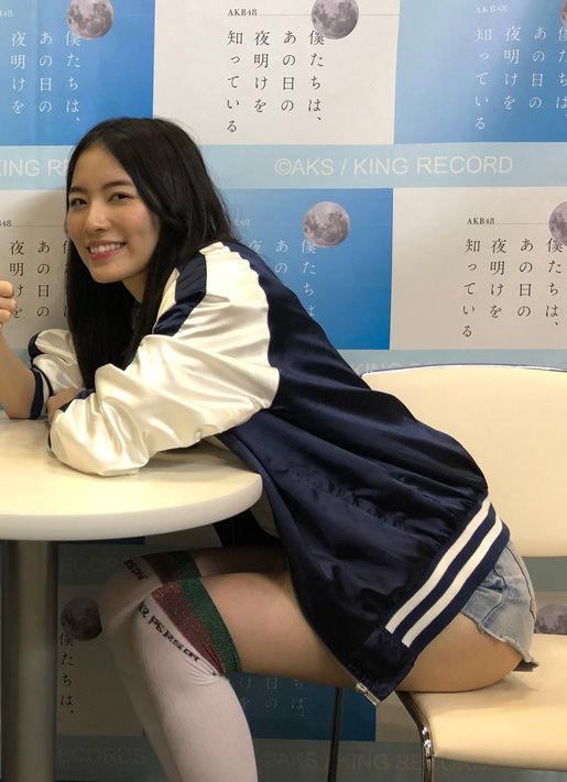 松井珠理奈(21)のショーパン姿の生足にハミ尻がクッソエロいww【エロ画像】