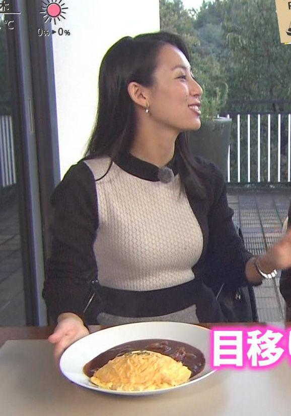 杉野真実アナ(28)の着衣ニット巨乳がぐうシコww【エロ画像】