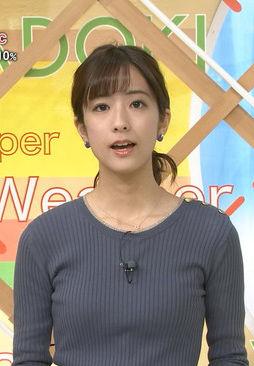 田村真子アナ(23)の着衣ニットおっぱいエロいww【エロ画像】