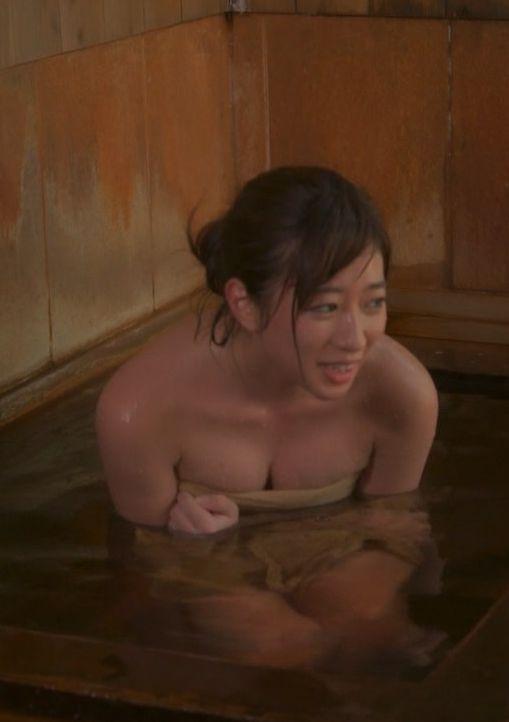大貫彩香(24)秘湯ロマンでDカップ胸チラ谷間を披露!ww【エロ画像】