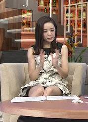 古谷有美アナ(30)のパンチラ寸前のミニスカワンピース姿がくっそエロいww【エロ画像】