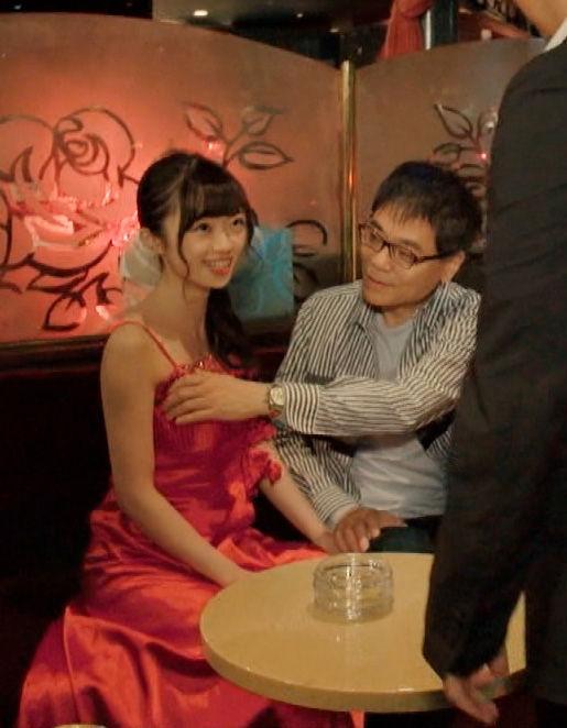 NGT48中井りか(20)のキャバドレス姿の乳揉みセクハラww【エロ画像】