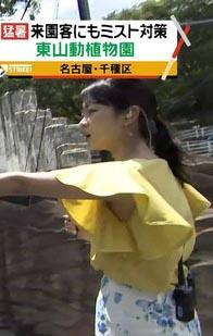 磯貝初奈アナ(24)のがっつり脇チラがエロいww【エロ画像】