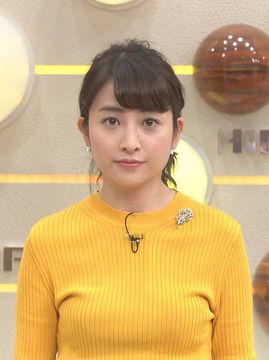 日比麻音子アナ(25)の着衣おっぱいがエロいww【エロ画像】