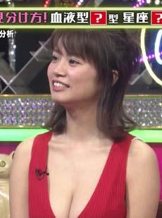 菜乃花(29)のTVで見る胸チラ谷間が新鮮でエロいww【エロ画像】
