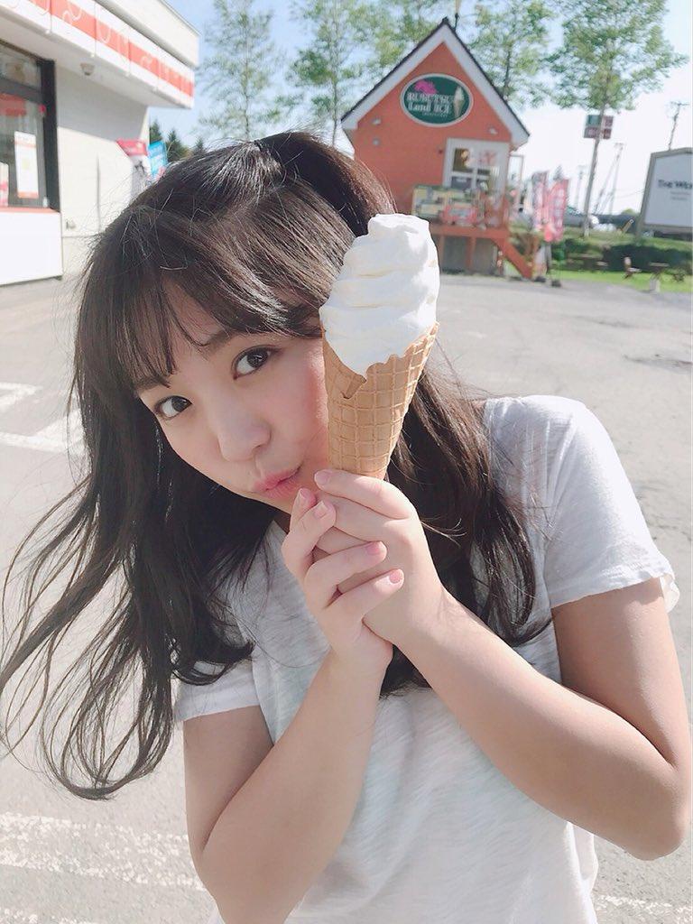大原優乃(18)のソフトクリーム食べてる姿が疑似フェラ妄想不可避ww【エロ画像】
