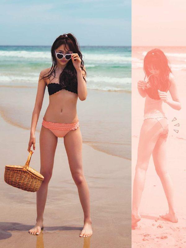 モデル松井愛莉(19)のくびれボディがエロい!水着グラビアで美脚と小尻を披露!