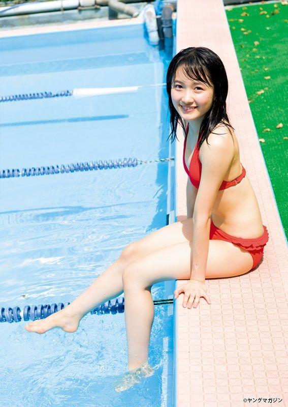 森戸知沙希(17)モー娘。の水着グラビアがぐうシコww【エロ画像】