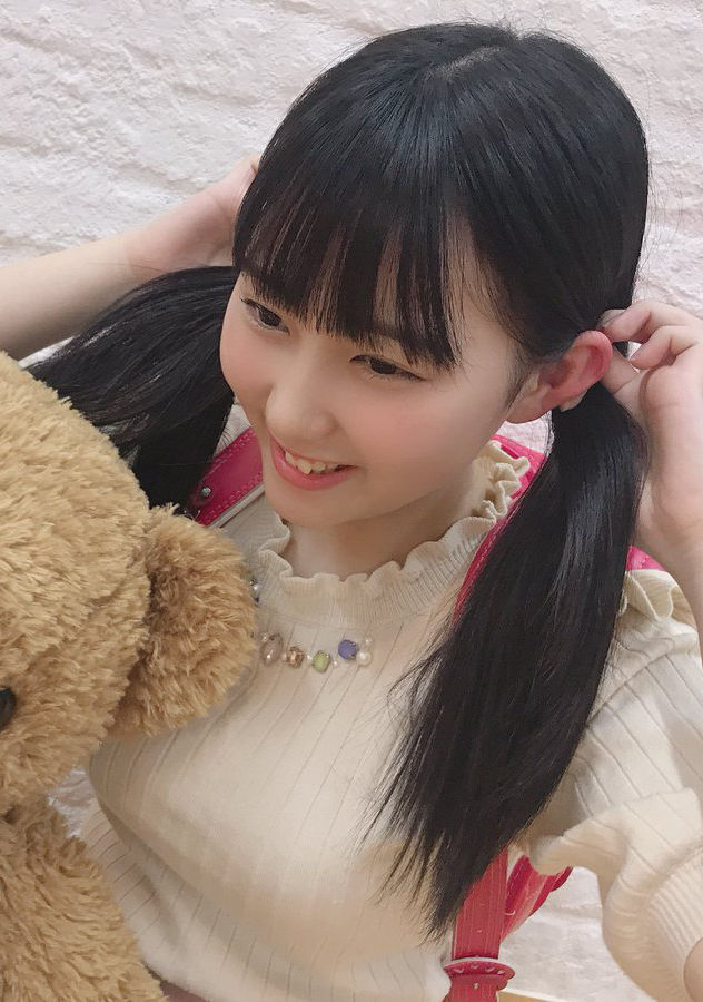 HKT48田中美久(17)のツインテランドセル姿がエロいww【エロ画像】