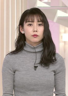杉野真実アナ(29)の着衣ニット巨乳がエロいww【エロ画像】
