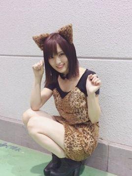 NMB48山本彩(23)ハロウィン女豹コスがけしからん…ミニスカ生足がいやらしすぎるww【エロ画像】