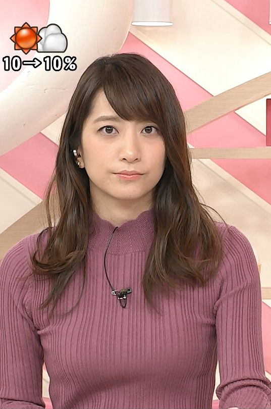 笹崎里菜アナ(25)元ホステスアナの着衣ニットのボインがエロいww【エロ画像】