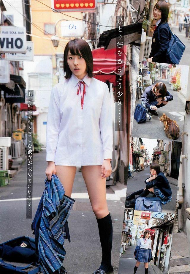 AKB48藤江れいな(19)のノーパンJKグラビアエロ過ぎwwwww【エロ画像】