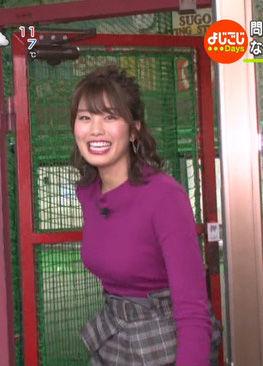 稲村亜美(21)Fカップの最新着衣巨乳ニットが抜けるww【エロ画像】