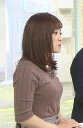 水卜麻美アナ(31)のおっぱい強調した着衣ニットがエロいww【エロ画像】