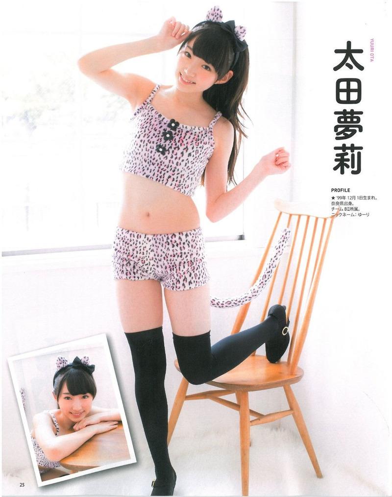 NMB太田夢莉(15)のJK太ももがけしからんwwwムッチムチで美味しそう【エロ画像】