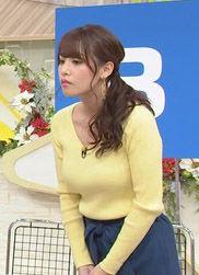 鷲見玲奈アナ(28)の熊田曜子よりもデカイ着衣巨乳が抜けるww【エロ画像】