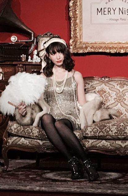 小嶋陽菜(28)ミニドレスに黒パンストでハロウイーンイベントに登場したこじはるが即ハボww【エロ画像】