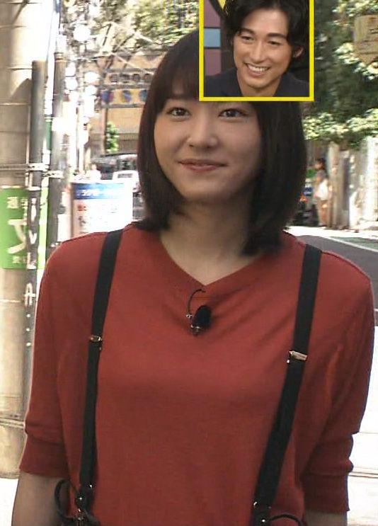 新垣結衣(29)サスペンダー着衣ニットがなんかエロいww【エロ画像】