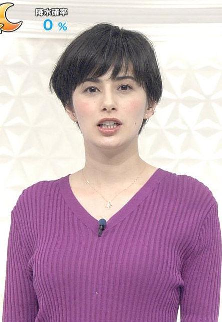 ホラン千秋(30)の着衣巨乳ニットがエロいww【エロ画像】