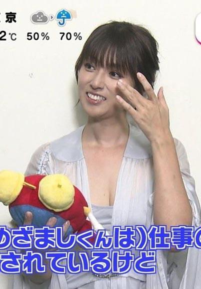 深田恭子(35)TVでの胸チラおっぱいとすっぴん下着姿が抜けるww【エロ画像】