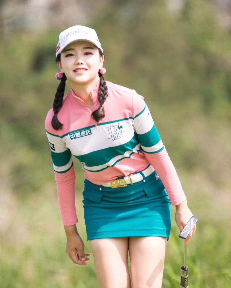 セキ・ユウティン(20)中国人女子ゴルファーの美脚が抜けるww【エロ画像】