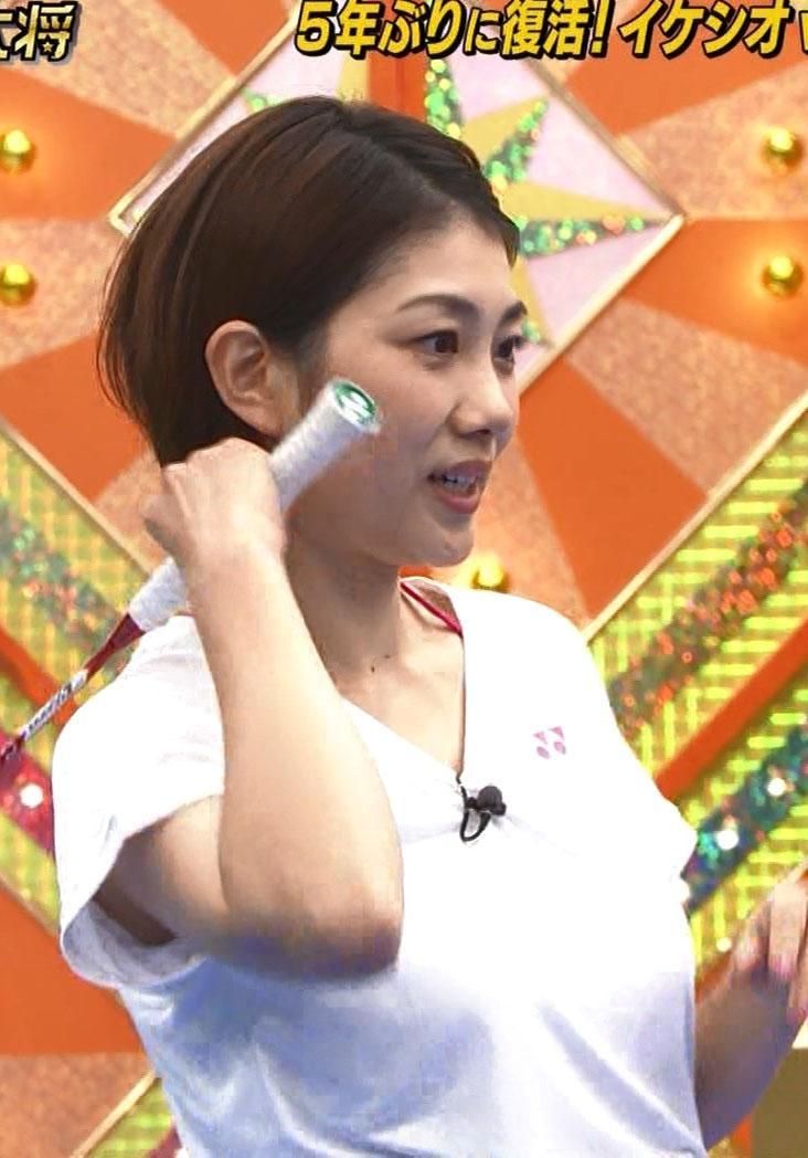 潮田玲子(34)元バドミントン選手の乳揺れキャプがぐうシコww【エロ画像】