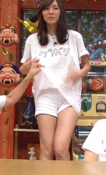 松井珠理奈(20)ノーパンと思わせる生足太ももがクッソエロいww【エロ画像】