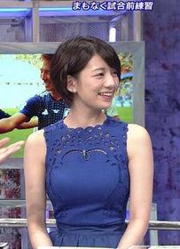 佐藤美希(25)のおっぱい強調しまくりのワールドカップ番組がエロすぎww【エロ画像】
