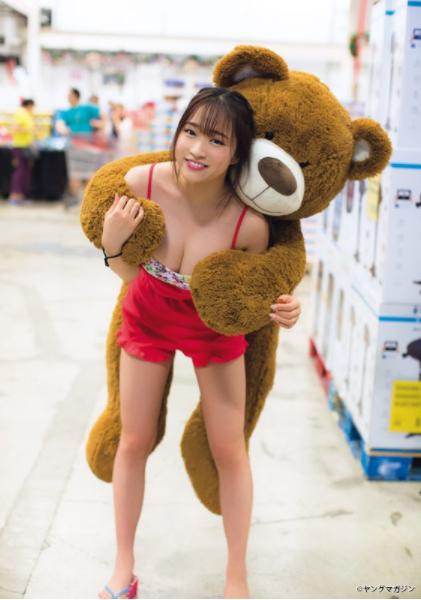 はるかぜ.(19)Iカップデカ乳が抜ける水着姿ww【エロ画像】
