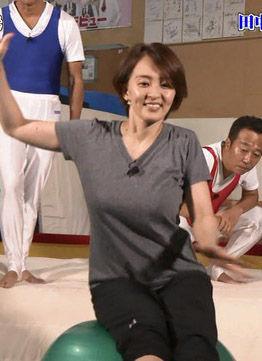 田中理恵(31)のTVで見せた人妻の着衣巨乳がエロいww【エロ画像】