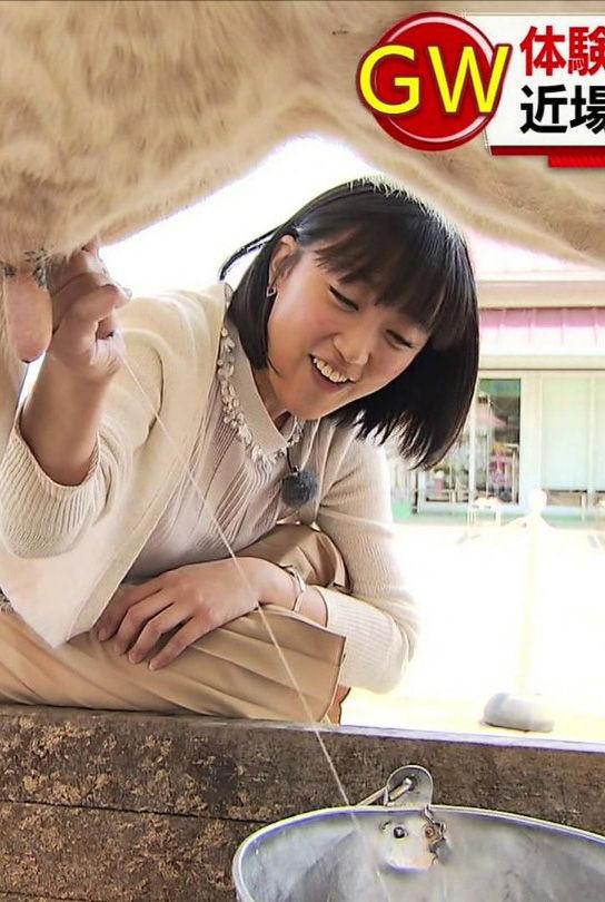 竹内由恵アナ(32)乳搾りが手コキみたいでエロいww【エロ画像】