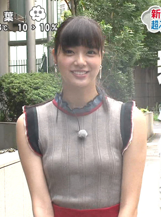 新川優愛(23)TVで見せた着衣ニットの微乳おっぱいww【エロ画像】